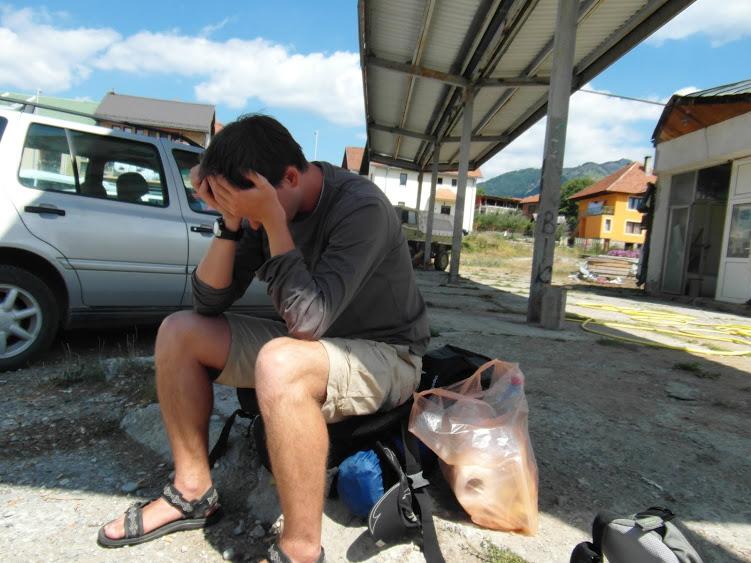 Zdjęcie zapożyczone z Czarnogóry, wtedy również dzielnie autostopowaliśmy.