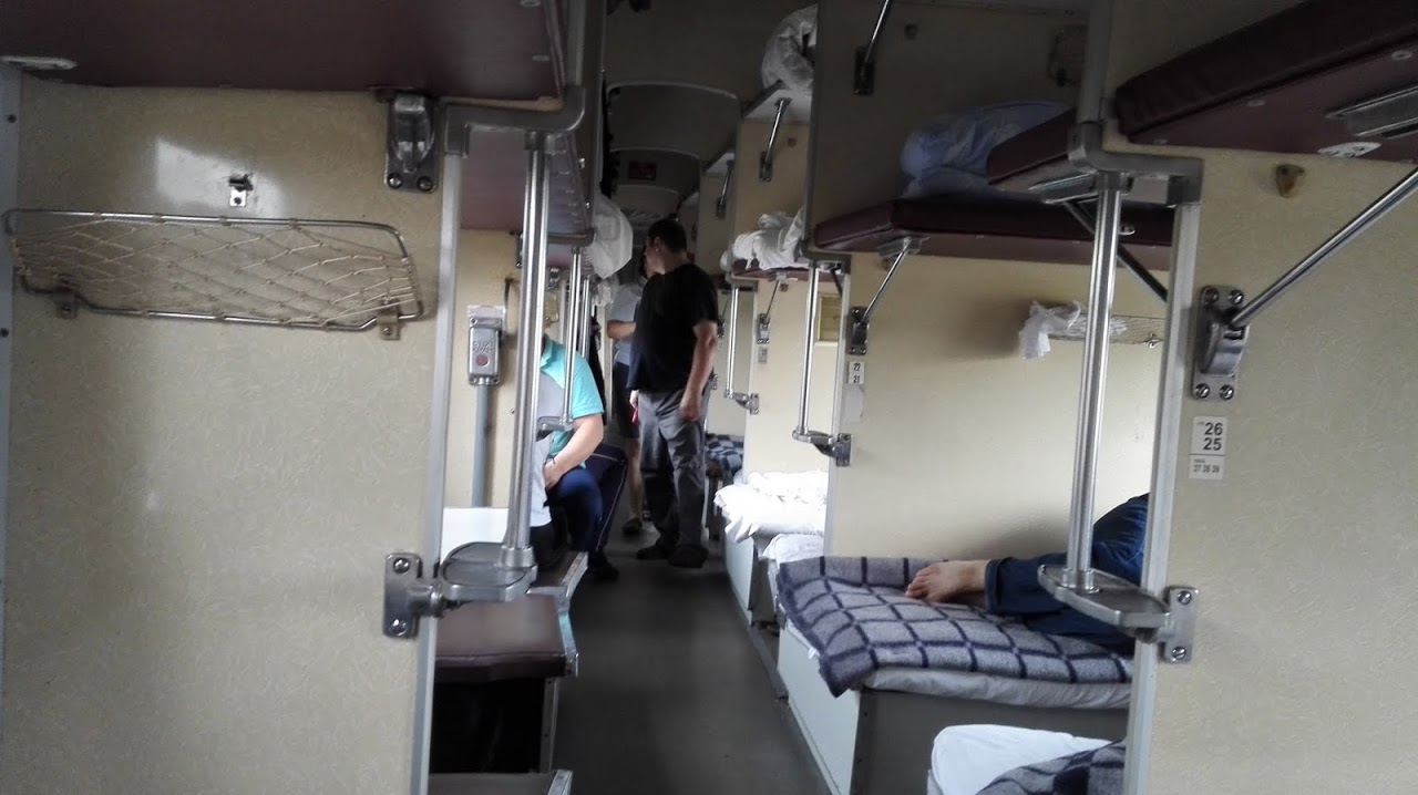 Wagon płackartny, kolej transsyberyjska